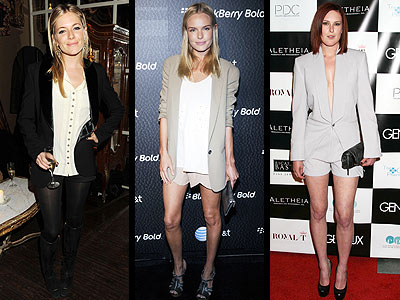 SHORT SUITS  photo | Kate Bosworth, Rumer Willis, Sienna Miller