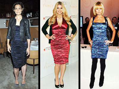 SATIN RUCHED DRESSES
