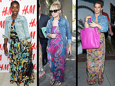 JEAN JACKETS & MAXIDRESSES  photo | Estelle, Jessica Simpson, Nicole Richie
