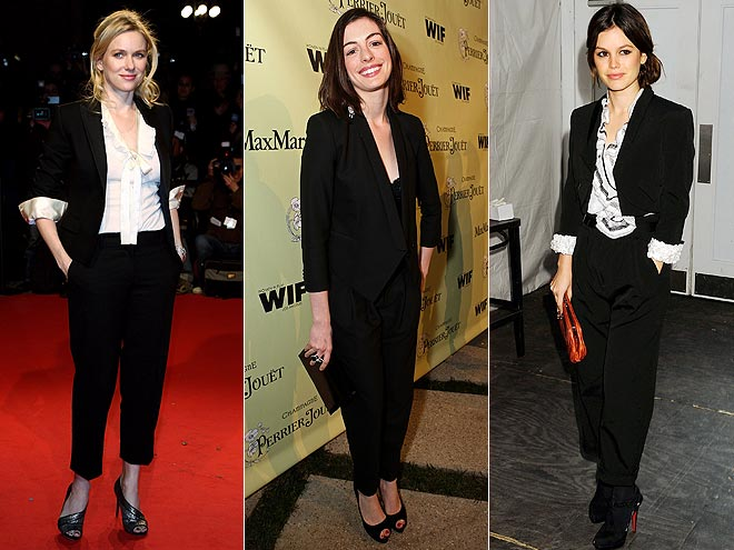 BLACK PANTSUITS