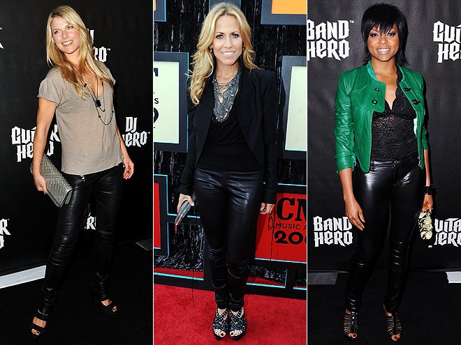 BLACK LEATHER PANTS  photo | Ali Larter, Sheryl Crow, Taraji P. Henson