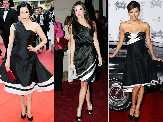BLACK-AND-WHITE DRESSES
