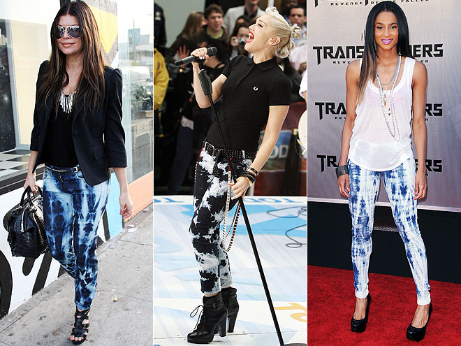 TIE-DYE JEANS photo | Ciara, Fergie, Gwen Stefani