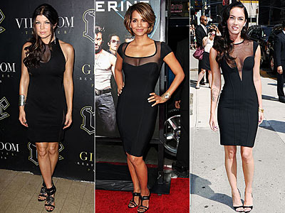 SHEER BLACK NECKLINES | Fergie, Halle Berry, Megan Fox