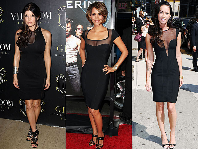SHEER BLACK NECKLINES  photo | Fergie, Halle Berry, Megan Fox