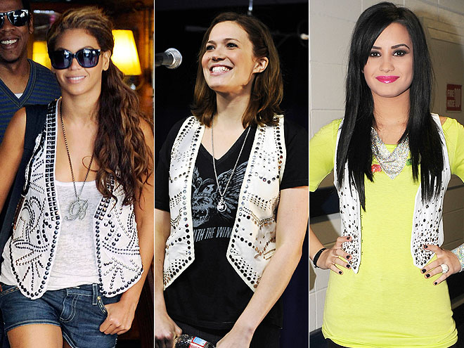 WHITE STUDDED VESTS