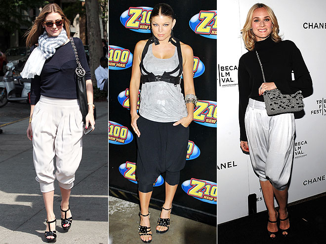 CROPPED HAREM PANTS  photo | Diane Kruger, Fergie, Olivia Palermo