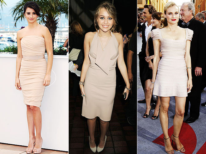 BLUSH DRESSES  photo | Diane Kruger, Miley Cyrus, Penelope Cruz