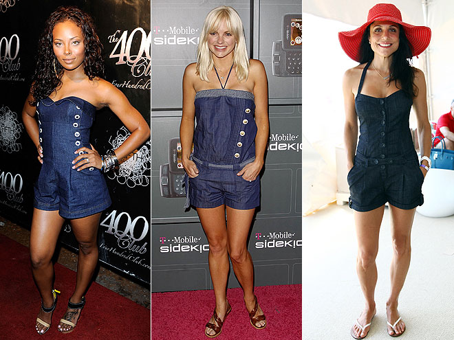 DENIM ROMPERS  photo | Anna Faris, Bethenny Frankel, Eva Pigford