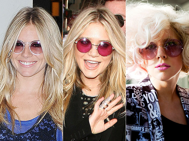 ROUND SUNGLASSES  photo | Lady Gaga, Mary-Kate Olsen, Sienna Miller