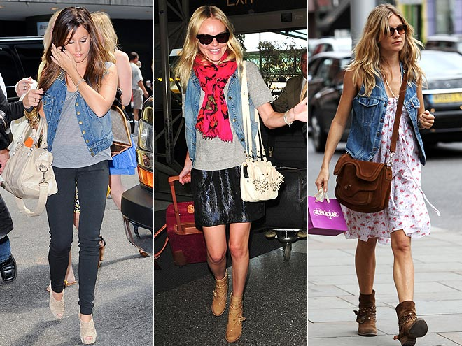 DENIM VESTS  photo | Ashley Tisdale, Kate Bosworth, Sienna Miller