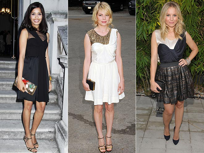 ILLUSION NECKLINES  photo | Freida Pinto, Kristen Bell, Michelle Williams
