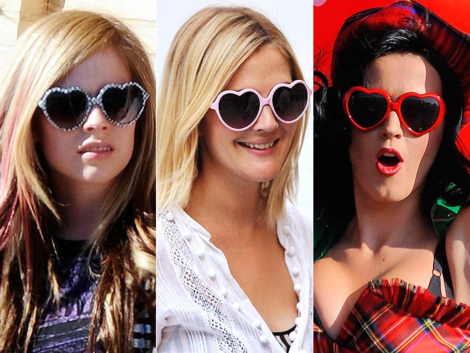 HEART-SHAPED GLASSES photo | Avril Lavigne, Drew Barrymore, Katy Perry