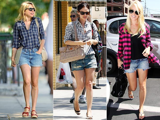 BUTTONDOWNS AND CUTOFFS photo | Would You Wear These Trends, Heidi Montag, Michelle Williams, Rachel Bilson