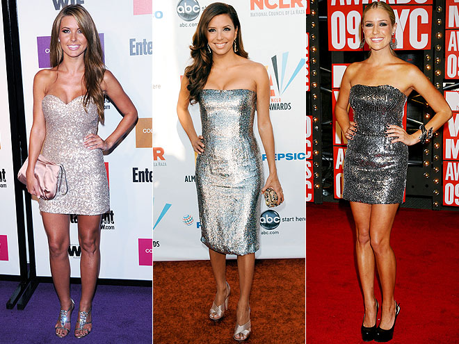 SILVER SEQUINED DRESSES  photo | Would You Wear These Trends, Audrina Patridge, Eva Longoria
