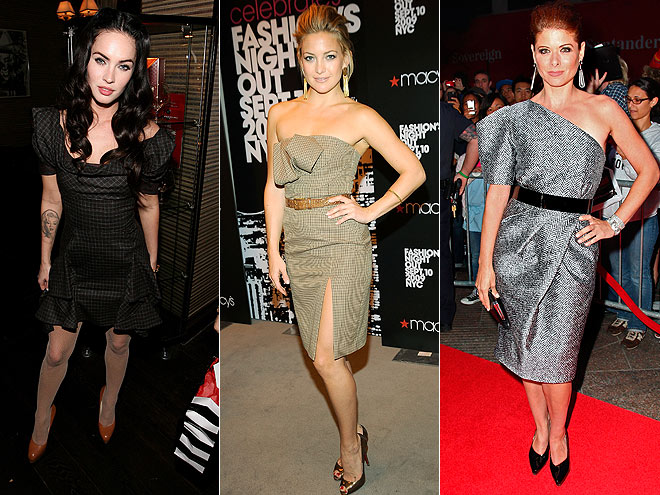 SUITING DRESSES photo | Would You Wear These Trends, Debra Messing, Kate Hudson, Megan Fox