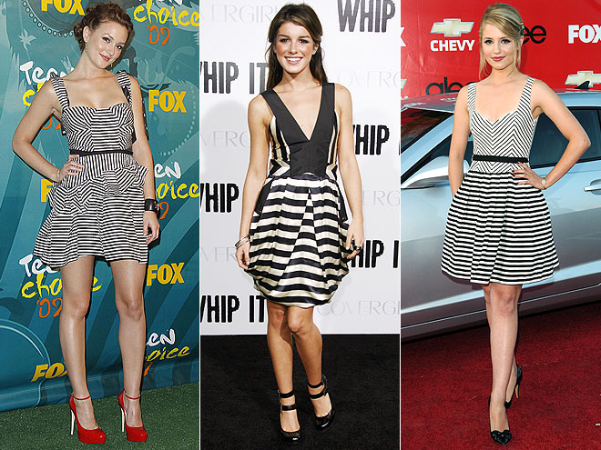 BLACK AND WHITE STRIPES photo | Would You Wear These Trends, Leighton Meester