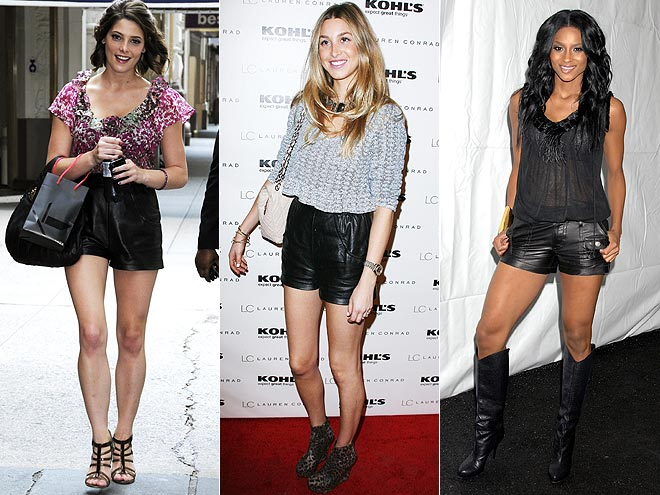 LEATHER SHORTS photo | Would You Wear These Trends, Ashley Greene