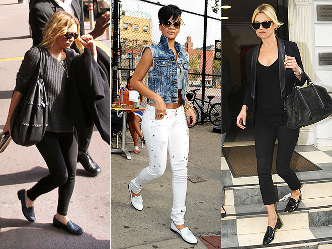 LOAFER FLATS  photo | Would You Wear These Trends, Kate Moss, Mary-Kate Olsen, Rihanna
