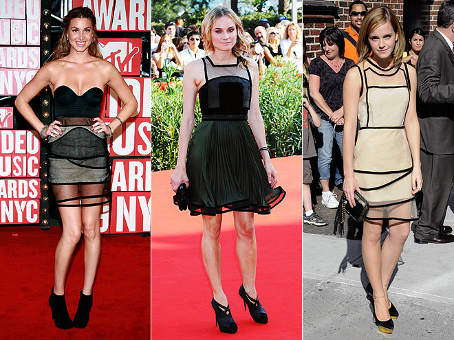 PIPED DRESSES  photo | Would You Wear These Trends, Diane Kruger, Emma Watson, Whitney Port