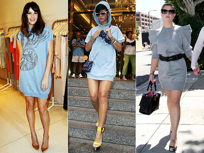 SWEATSHIRT DRESSES  photo | Would You Wear These Trends, Kelly Osbourne, Liv Tyler, Rihanna