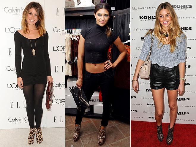 LEOPARD-PRINT BOOTIES  photo | Would You Wear These Trends, Jessica Szohr, Shenae Grimes, Whitney Port