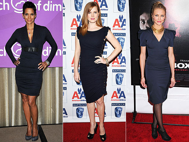NAVY SHEATHS  photo | Would You Wear These Trends, Amy Adams, Cameron Diaz, Halle Berry