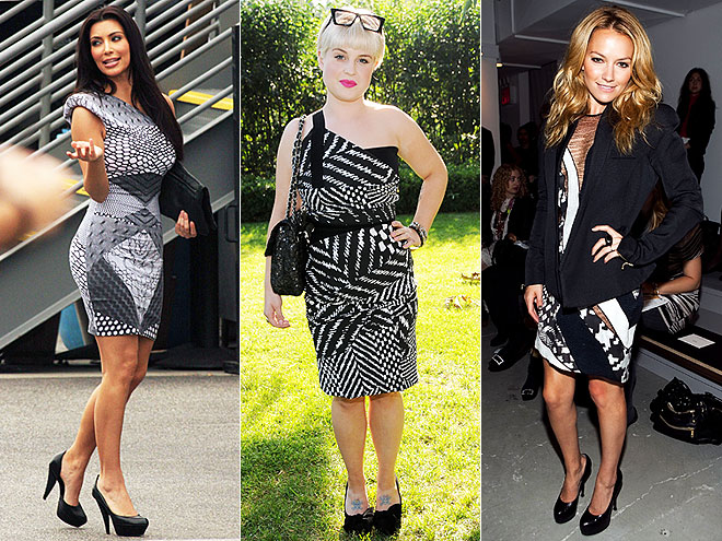 BLACK AND WHITE PATCHWORK  photo | Would You Wear These Trends, Becki Newton, Kelly Osbourne, Kim Kardashian