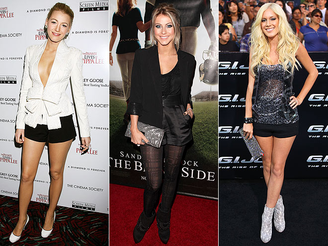 FORMAL SHORT SHORTS  photo | Would You Wear These Trends, Blake Lively, Heidi Montag, Julianne Hough