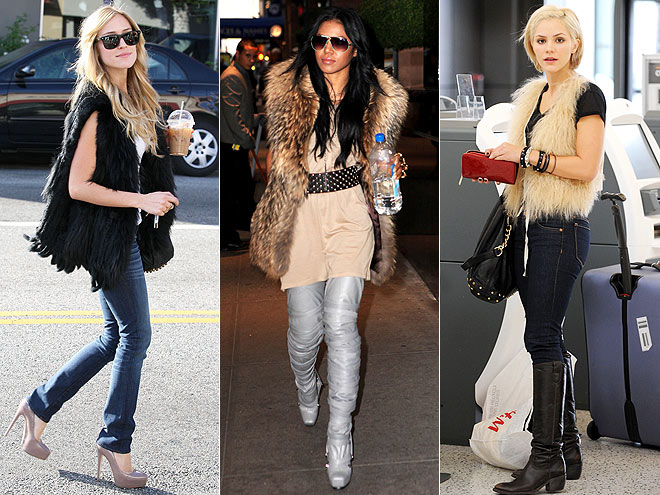FUR VESTS  photo | Would You Wear These Trends, Amerie, Katharine McPhee, Kristin Cavallari