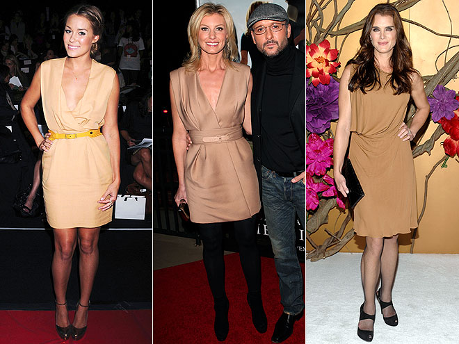 CAMEL DRESSES  photo | Brooke Shields, Faith Hill, Lauren Conrad