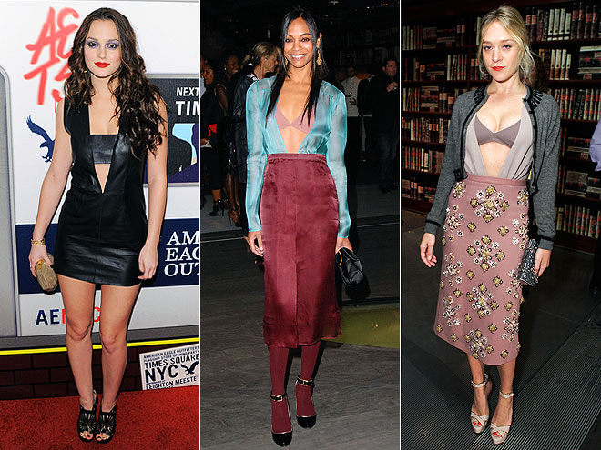 VISIBLE BRASphoto | Would You Wear These Trends, Chloë Sevigny, Leighton Meester, Zoe Saldana