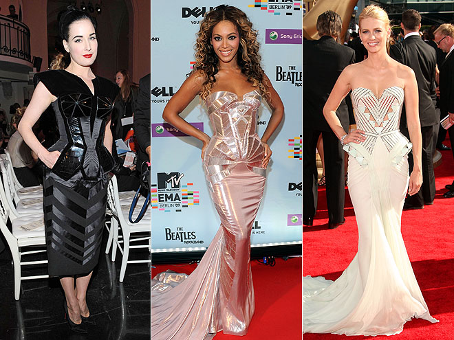FUTURISTIC DRESSES  photo | Beyonce Knowles, Dita Von Teese, January Jones
