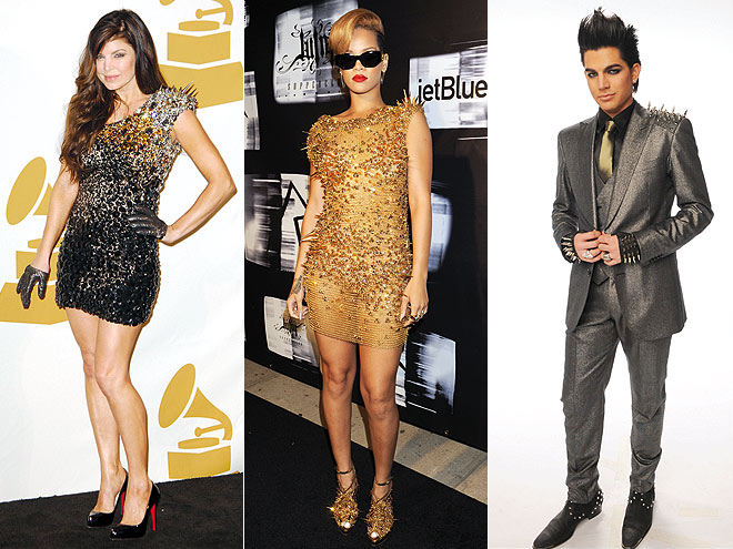 SHOULDER SPIKES  photo | Adam Lambert, Fergie, Rihanna