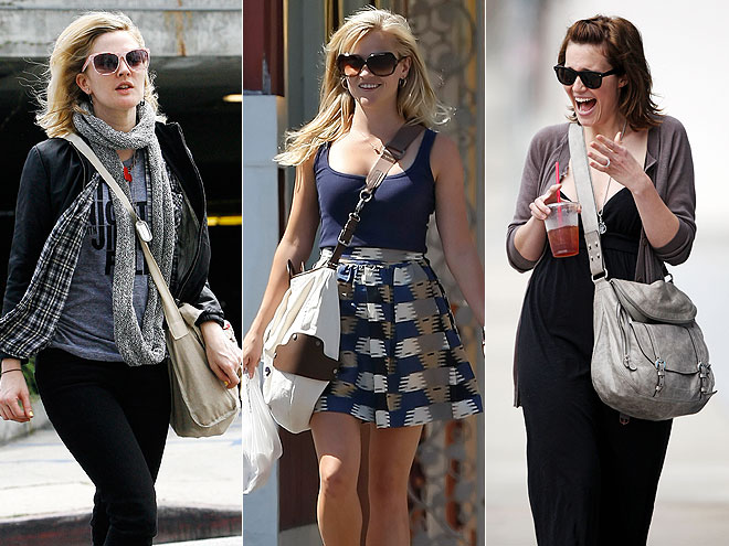 CROSS-BODY BAGS  photo | Drew Barrymore, Mandy Moore, Reese Witherspoon