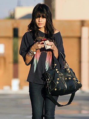 vanessa hudgens bangs. Simply flat-iron the angs to