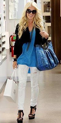 HEIDI MONTAG'S BLUE BAG  photo | Heidi Klum