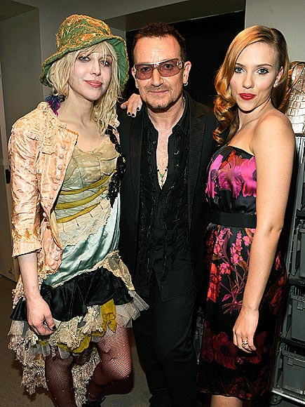 SCARLETT JOHANSSON'S DRESS  photo | Bono, Courtney Love, Scarlett Johansson