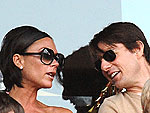 Tom & Victoria Watch a Soccer Match | Tom Cruise, Victoria Beckham