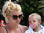 Britney's Poolside R&R with Her Boys | Britney Spears