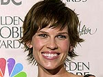 9 Years Ago: Hilary Swank's Glittery Globes Dress | Hilary Swank