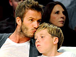 Becks Holds Court at the Lakers Game | David Beckham