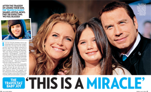 'This is a Miracle': The Travoltas' Baby Joy