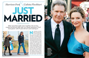 Harrison Ford & Calista Flockhart: Just Married
