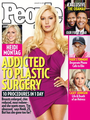  photo | Reality TV, Plastic Surgery, Barack Obama, Casey Johnson, Heidi Montag, Michelle Obama, Tiger Woods