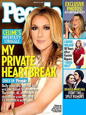 photo | Celine Dion Cover, Angelina Jolie, Brad Pitt, Carnie Wilson, Celine Dion, Jennifer Aniston