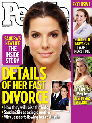 photo | Divorced, Sandra Bullock Cover, Ali Fedotowsky, Elizabeth Edwards, Jesse James, Sandra Bullock