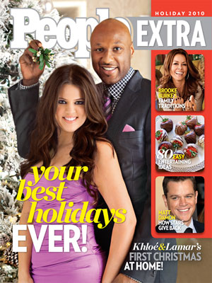 photo | Reality TV, Holiday Entertaining on Cover, Khloe Kardashian Cover, Lamar Odom Cover, Brooke Burke, Khloe Kardashian, Lamar Odom, Matt Damon