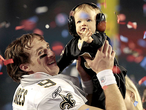 Photo of Drew Brees & his  Son  Baylen Robert Brees
