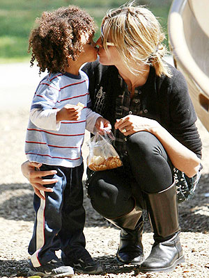 heidi klum kids say the funniest things. Heidi Klum and son Johan Riley